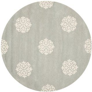 Safavieh SOH724C Soho Collection Handmade New Zealand Wool Round Area Rug, 8 Feet in Diameter, Grey and Ivory