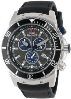 Swiss Precimax Men's SP13274 Pursuit Pro Sport Grey Dial with Black Silicone Band Watch Swiss Precimax Watches