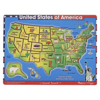 Melissa & Doug Deluxe USA Map Sound Puzzle