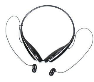Wireless Bluetooth Music Stereo Headset Headphone Vibration Neckband Style for iPhone iPad Samsung   Black Cell Phones & Accessories