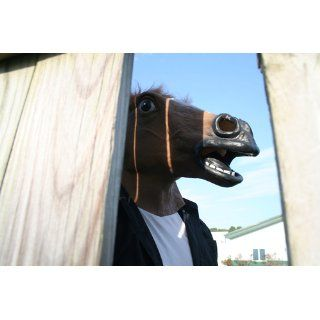 Forum Novelties Brown Horse Deluxe Latex Farm Animal Costume Mask Toys & Games
