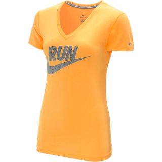 NIKE Womens Legend Run Swoosh Short Sleeve T Shirt   Size XS/Extra Small,