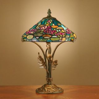 Dale Tiffany Antiques Roadshow Evergreens Dunkirk Table Lamp