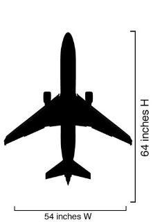 Vinyl Wall Art Decal Sticker Airplane 737 Silhouette