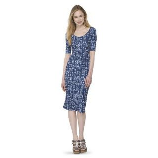Mossimo Supply Co. Juniors Printed Midi Dress   Blue Tribal XL(15 17)