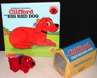 "Clifford Bobblehead Toy in Doghouse Box WITH the First, Original ""Clifford the Big Red Dog"" Book (Toy and Book Combo) Toys & Games"