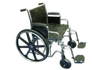 "EVA Medical 22"" Bariatric Heavy Duty Wheelchair with detachable arms and footrest Health & Personal Care"