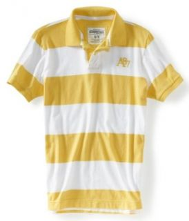 Aeropostale Mens 2 Button Stripe Rugby Polo Shirt 726 Xs at  Men�s Clothing store