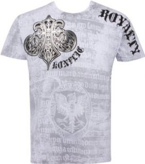 Royalty Metallic Silver Short Sleeve Crew Neck Cotton Mens Fashion T Shirt Clothing