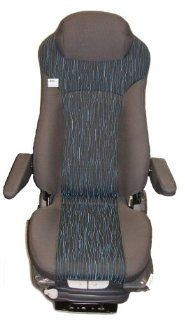 Prime Seating 300C Blue Grey Cloth Truck Seat Air Ride Adjustable Seat Automotive