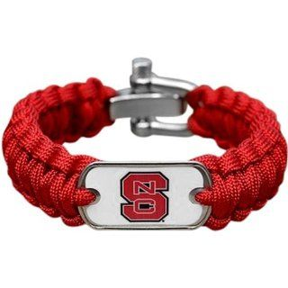 NCAA North Carolina State Wolfpack Survival Paracord Bracelet (Medium)   Sports Fan Bracelets