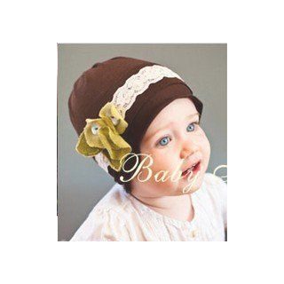 Lovely Unusal Cotton Girls Baby TODDLER THREE YELLOW FLOWER YELLOW BROWN SUN HAT Toys & Games
