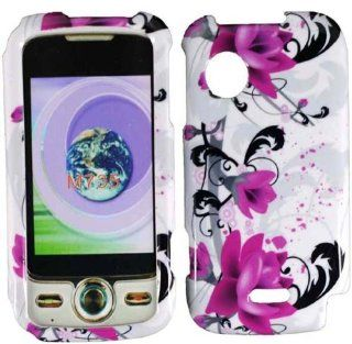 Purple Lily Hard Case Cover for Huawei M735 Cell Phones & Accessories