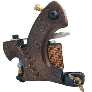 Professional 10 Wrap Coils Damascus Steel Tattoo Machine for Liner Health & Personal Care