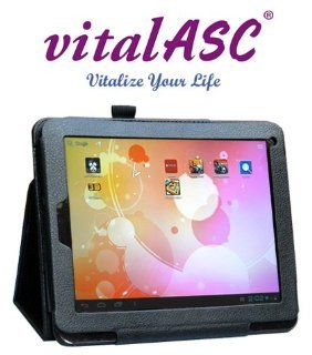 "vitalASC 8""ARM A9 1.5Ghz Dual Core, DDR3 1GB,12G TFT ,Dual Camera, Multi touch Screen and Android 4.1 Jelly Bean Tablet PC , Leather Case Stand Computers & Accessories"