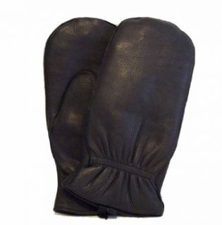 Soft Genuine DEER SKIN Leather Men Mitten with Inside Fingers SMALL (8 1/2) Clothing
