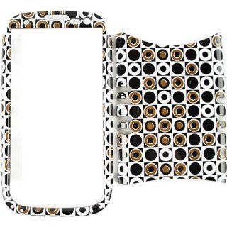 Cell Armor I747 RSNAP TP1274 Rocker Snap On Case for Samsung Galaxy S3 I747   Retail Packaging   Black/Dark Green Polka Dots in Square Cell Phones & Accessories