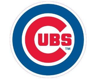 Chicago Cubs Team Auto Window Decal (12 x 10  inch)  Sports Fan Automotive Magnets  Sports & Outdoors