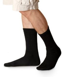 GL751 Gildan Men's Blended Crew Socks 6 Pk   Black   One at  Men�s Clothing store