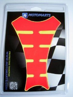 Moto 777 TP62 Bright Red Orange Vinyl Tank Pad Protector Automotive