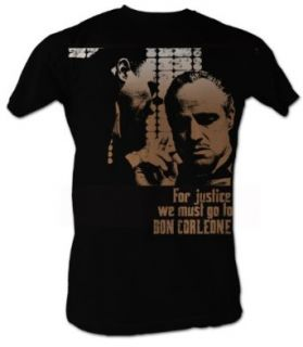 The Godfather T Shirt   Justice Adult Black Tee Shirt Clothing