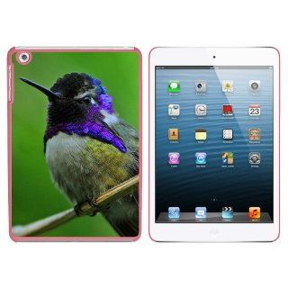 Hummingbird Violet Purple Head   Humming Bird Snap On Hard Protective Case for Apple iPad Mini   Pink Computers & Accessories