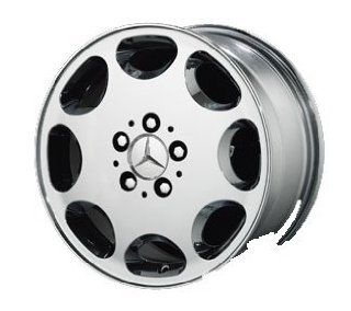 "Replica 16"" 92 Style (8 hole) Chrome Wheels for Mercedes Benz   Set of 4 with Lugs and Cap Automotive"