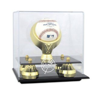 Golden Classic MLB Single Baseball Yankees Logo Display Case  Sports Related Display Cases  Sports & Outdoors