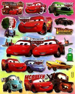 Cars Lightning McQueen RACE CAR Vitoline Racing Team in The World of Cars Disney Pixar Movie Sticker Sheet BL682