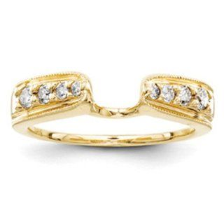 14k Yellow Gold Diamond Ring Wrap Jewelry