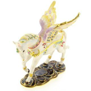 Flying Horse Trinket Box With Swarovski Crystal Jewelry