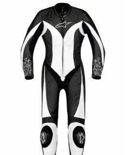 Alpinestars Stella Anouke One Piece Suit , Distinct Name Black/White, Size 38, Gender Mens/Unisex, Primary Color Black, Apparel Material Leather 3180012 12 38 Automotive