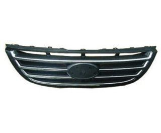 GRILLE Fits Kia Spectra CHROME/BLACK. (WITHOUT MFR MANUFACTURER EMBLEMS / LOGOS. THEY ARE TRADEMARK PROTECTED.) Automotive