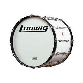 Ludwig Challenger Bass Drum (White 32 Inch) Musical Instruments