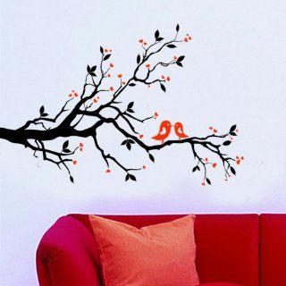 Love Birds Kissing on Tree Branch Wall Decal/sticker   Wall Decor Stickers