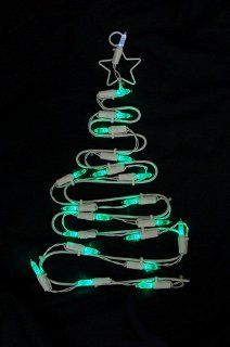 "12"" Battery Operated LED Lighted Christmas Tree Window Silhouette with Timer   String Lights"