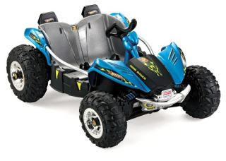 Fisher Price Power Wheels Dune Racer ATV Battery Powered Riding Toy   Blue   Battery Powered Riding Toys