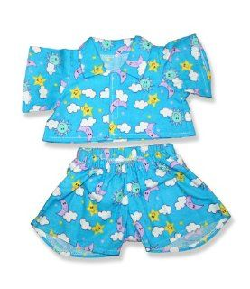 "Blue PJ's Outfit Teddy Bear Clothes Fit 14""   18"" Build a bear, Vermont Teddy Bears, and Make Your Own Stuffed Animals Toys & Games"