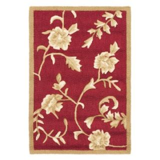 Safavieh DuraRug EZC415A Area Rug   Red/Gold   Area Rugs
