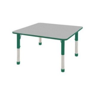 ECR4KIDS Square Activity Table   30 in.   Gray Top   Chunky Legs   Classroom Tables and Chairs