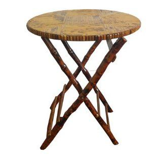 Bamboo Round Folding Table   Bamboo Chair