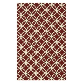Loloi Venice Beach Indoor / Outdoor Area Rug   Red / Ivory   Area Rugs