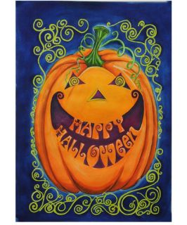 Toland 28 x 40 in. Happy Halloween House Flag   Outdoor Decor