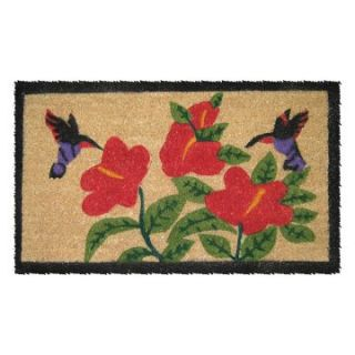 Hummingbirds 18 x 30 Hand Woven Coir Doormat   Outdoor Doormats