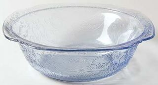 Indiana Glass Recollection Blue Round Bowl   Blue,Pressed,Scroll Design