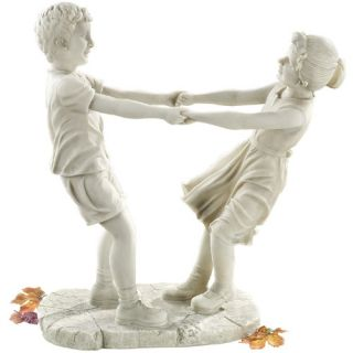 Design Toscano Little Girl and Boy Dancing Garden Statue   Large   Garden Statues