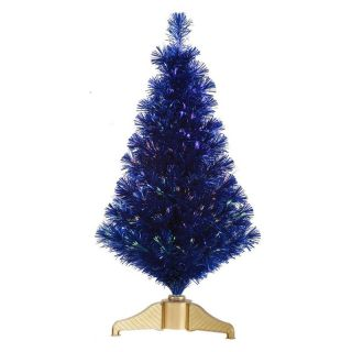 Vickerman 3 ft. Blue Fiber Optic Christmas Tree   Christmas Trees