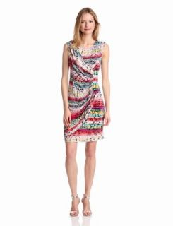 Tiana B Women's Sleeveless Abstract Printed Dress, Multi, Medium