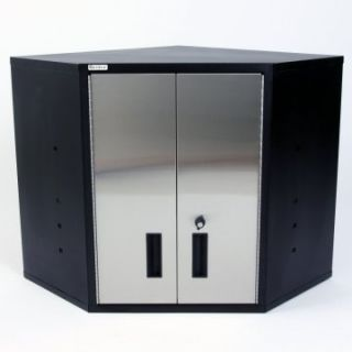 Geneva Stainless Steel Corner Wall Cabinet   Cabinets