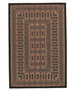 Couristan Recife Tamworth Indoor/Outdoor Area Rug   Cocoa/Black   Area Rugs